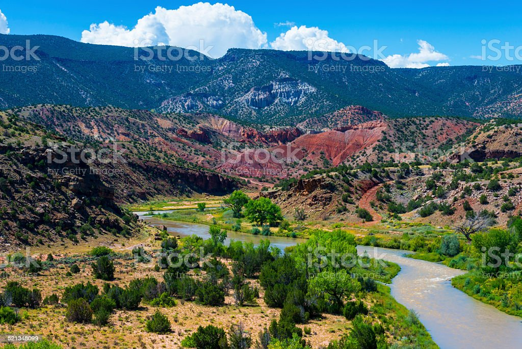 Rio Chama near Abiquiu stock photo