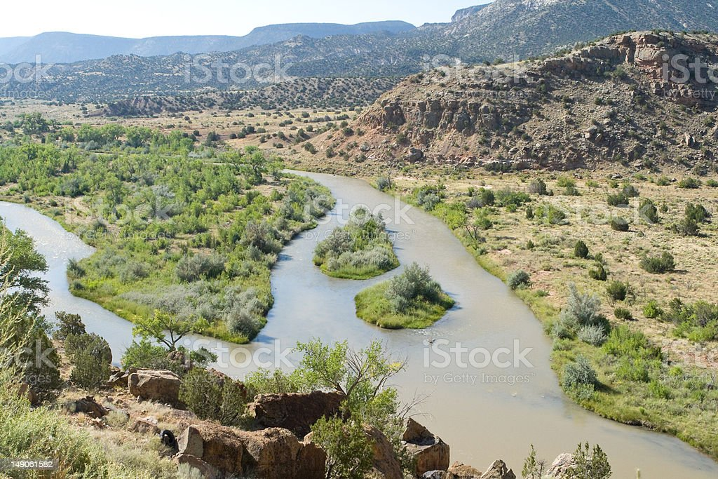 Rio Chama River North Central New Mexico Jemez Mountains stock photo