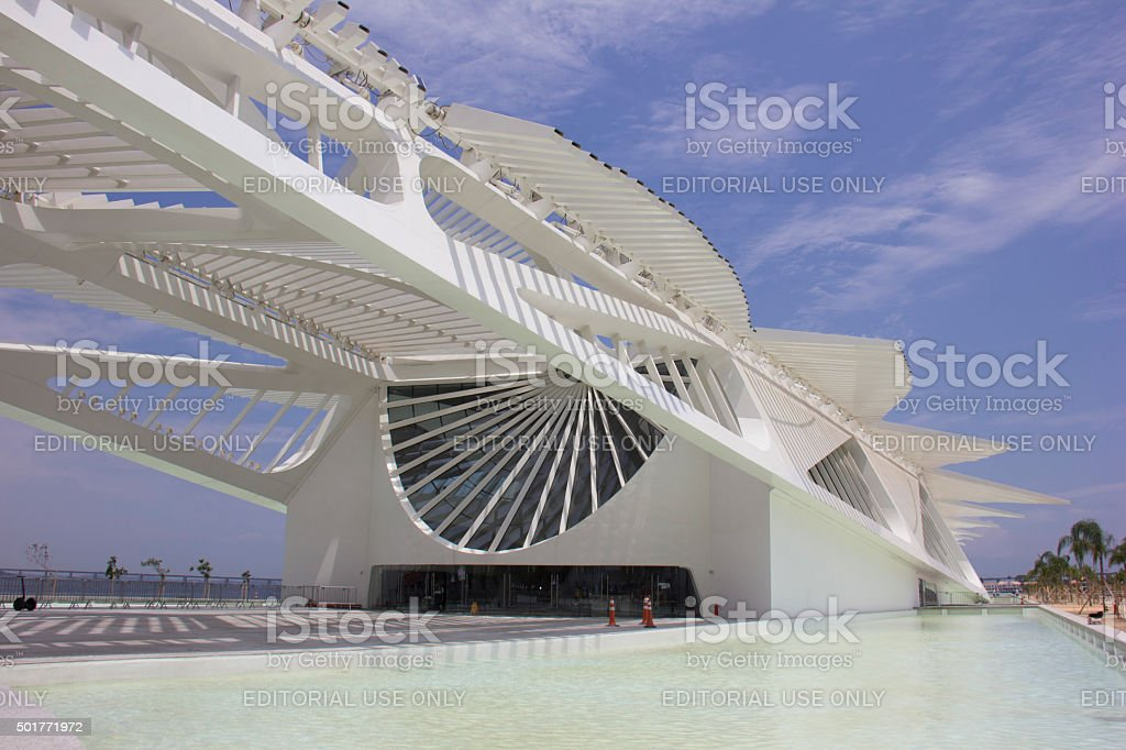 Rio City Hall opens Museum of Tomorrow in Port Area stock photo