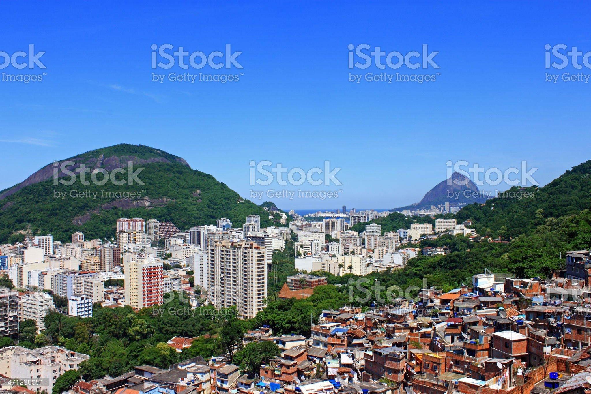 Rio de Janeiro, a contrast city royalty-free stock photo