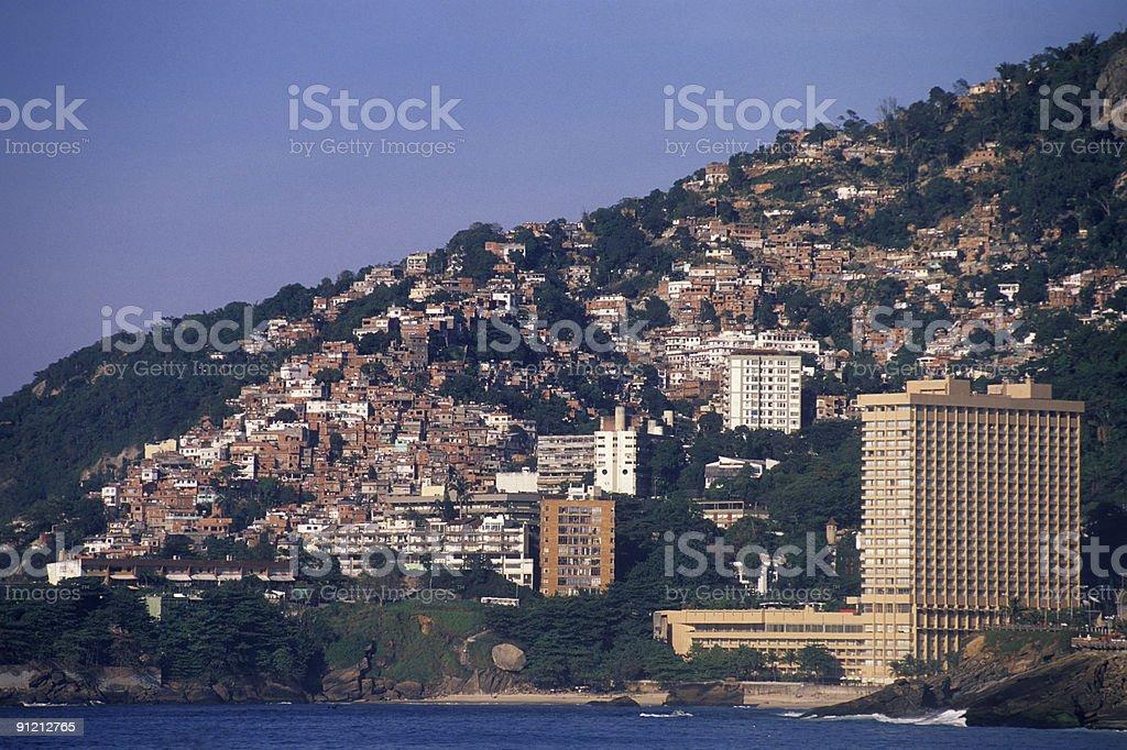 Rio de Janeiro, a contrast city stock photo