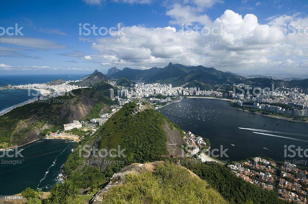 Rio De Janeiro and Guanabara Bay royalty-free stock photo