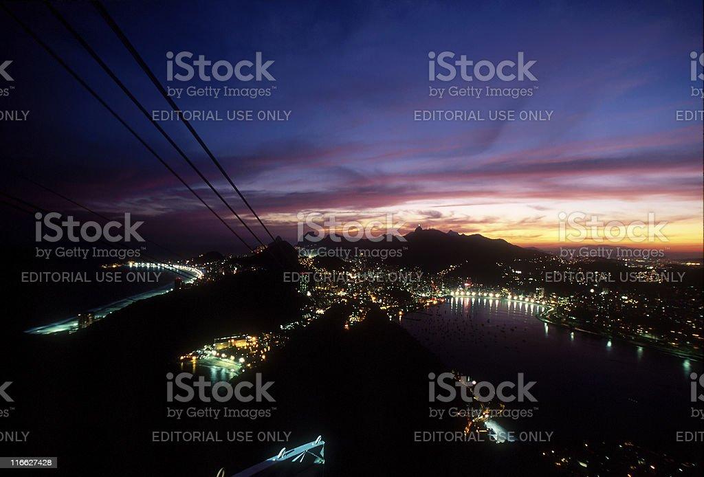 Rio de Janeiro at Dusk stock photo
