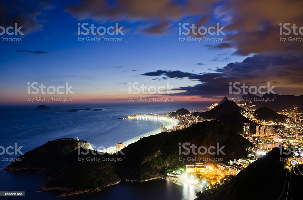 Rio de Janeiro at Night royalty-free stock photo