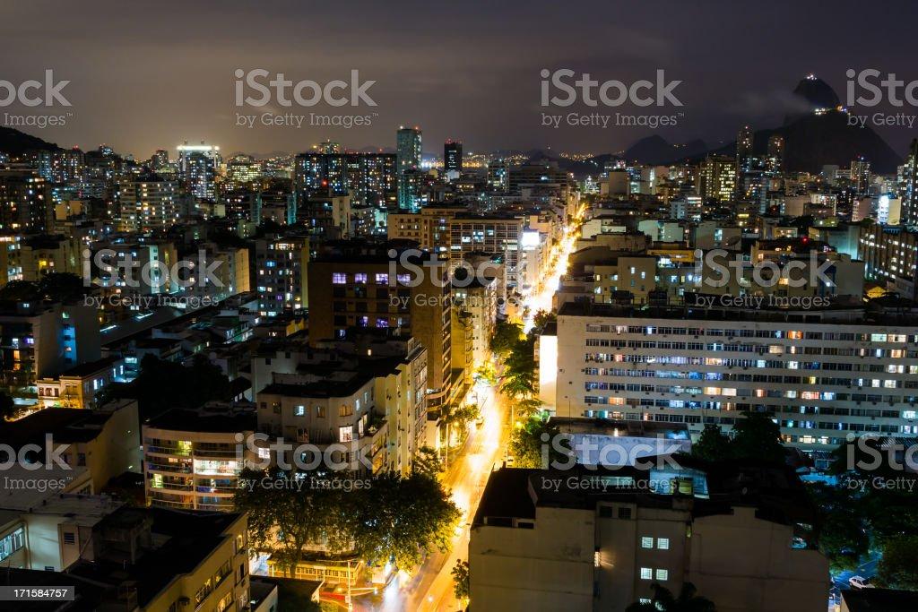 Rio de Janeiro at night royalty-free stock photo