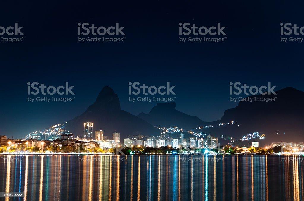Rio de Janeiro at Night stock photo