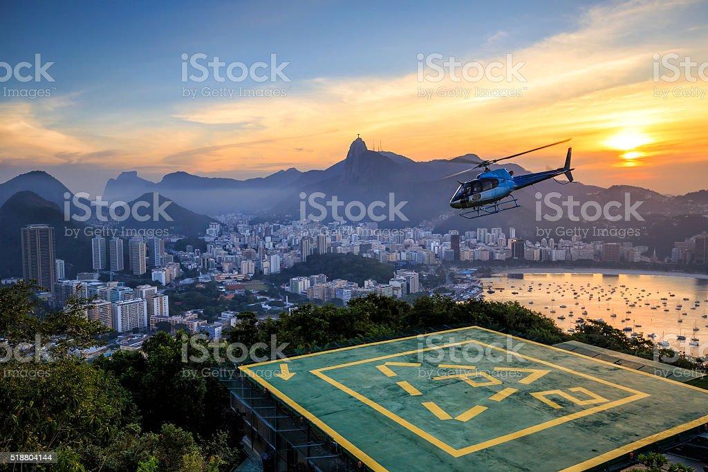 Rio de Janeiro at sunset stock photo