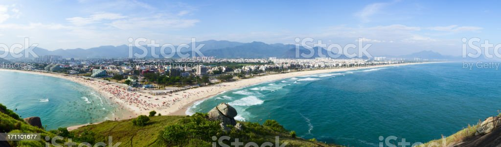 Rio de Janeiro beaches panorama royalty-free stock photo