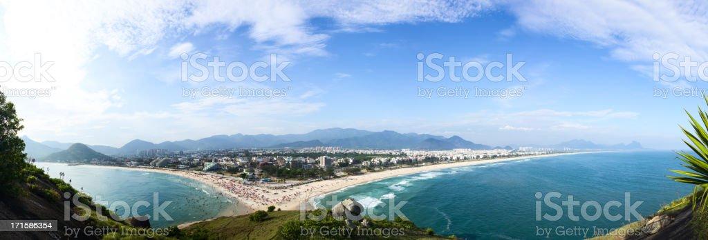 Rio de Janeiro beaches panorama stock photo