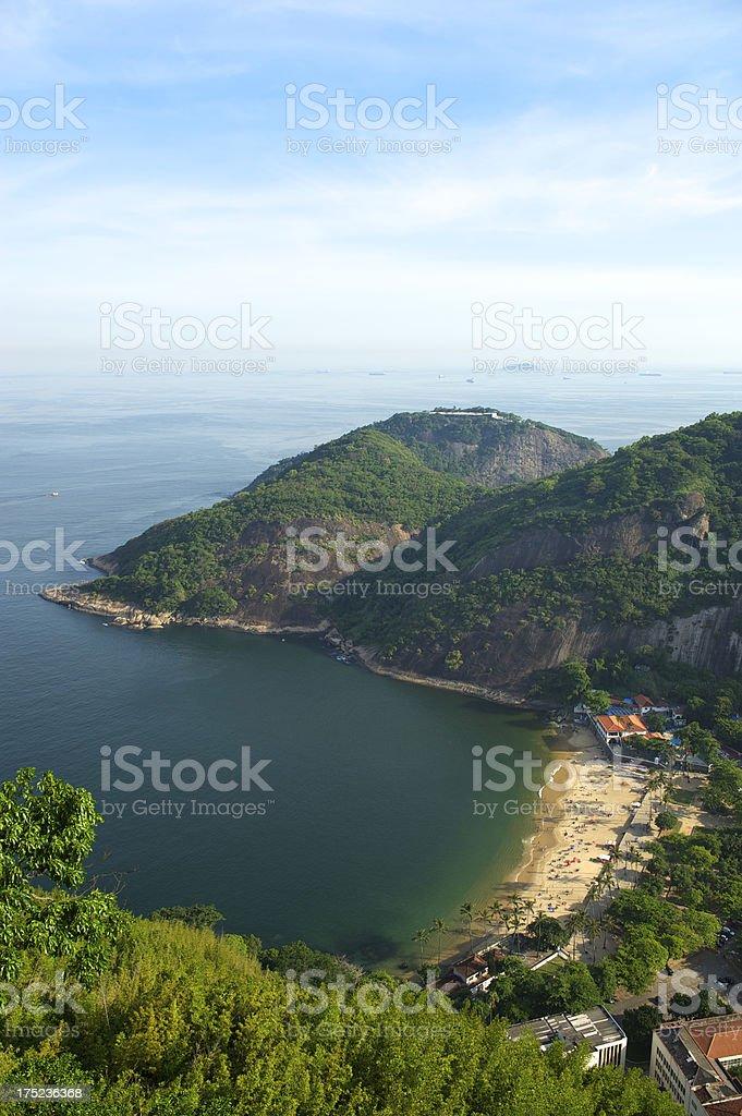 Rio de Janeiro Brazil Beach Aerial View from Sugarloaf Mountain royalty-free stock photo