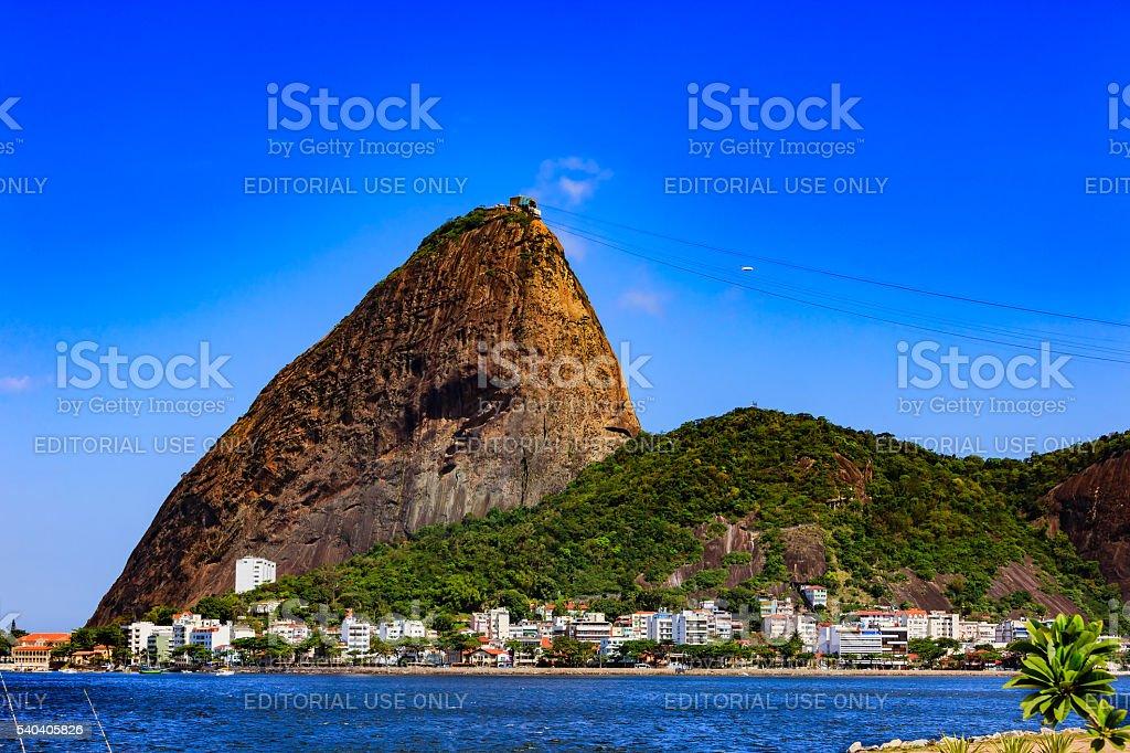 Rio de Janeiro, Brazil -  the iconic Sugar Loaf Mountain stock photo