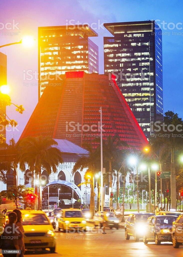 Rio de Janeiro by night. royalty-free stock photo