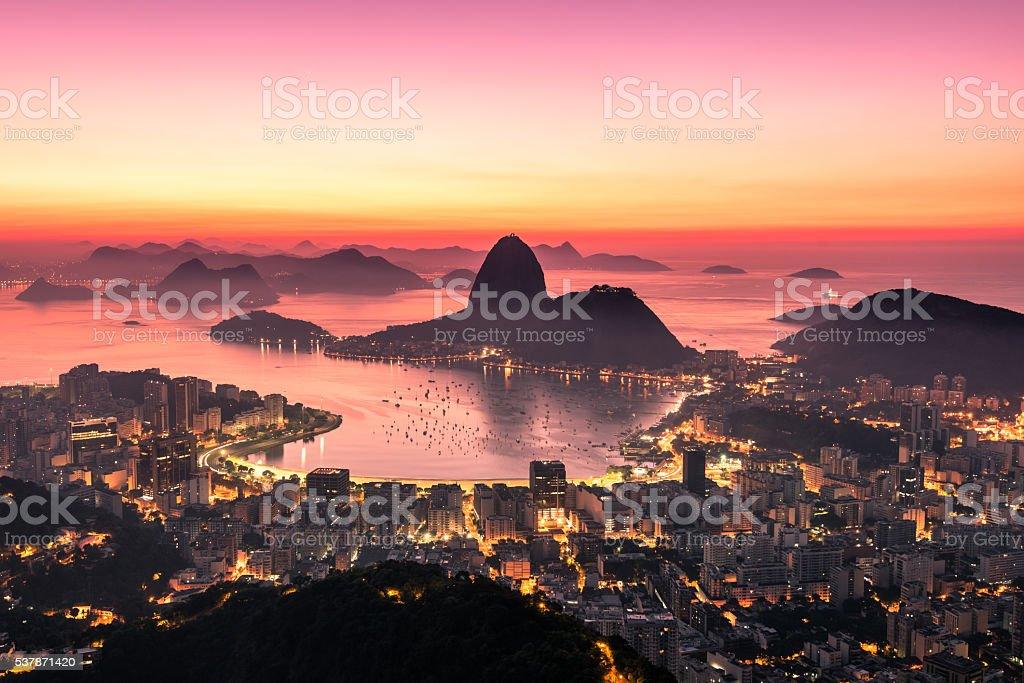 Rio de Janeiro by Sunrise stock photo