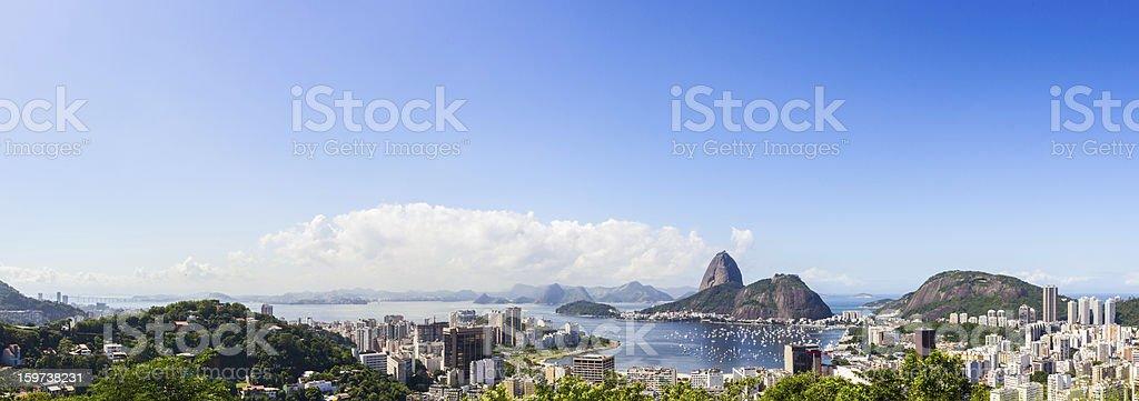 Rio de Janeiro cityscape panorama stock photo