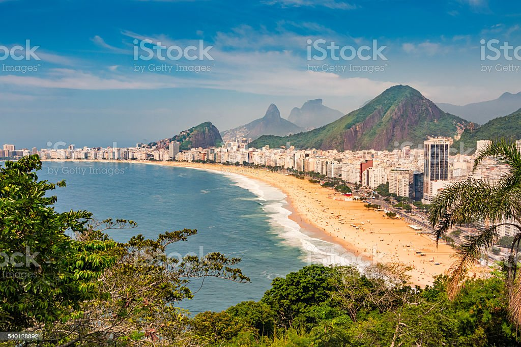 Rio de Janeiro Copacabana Beach Brazil stock photo