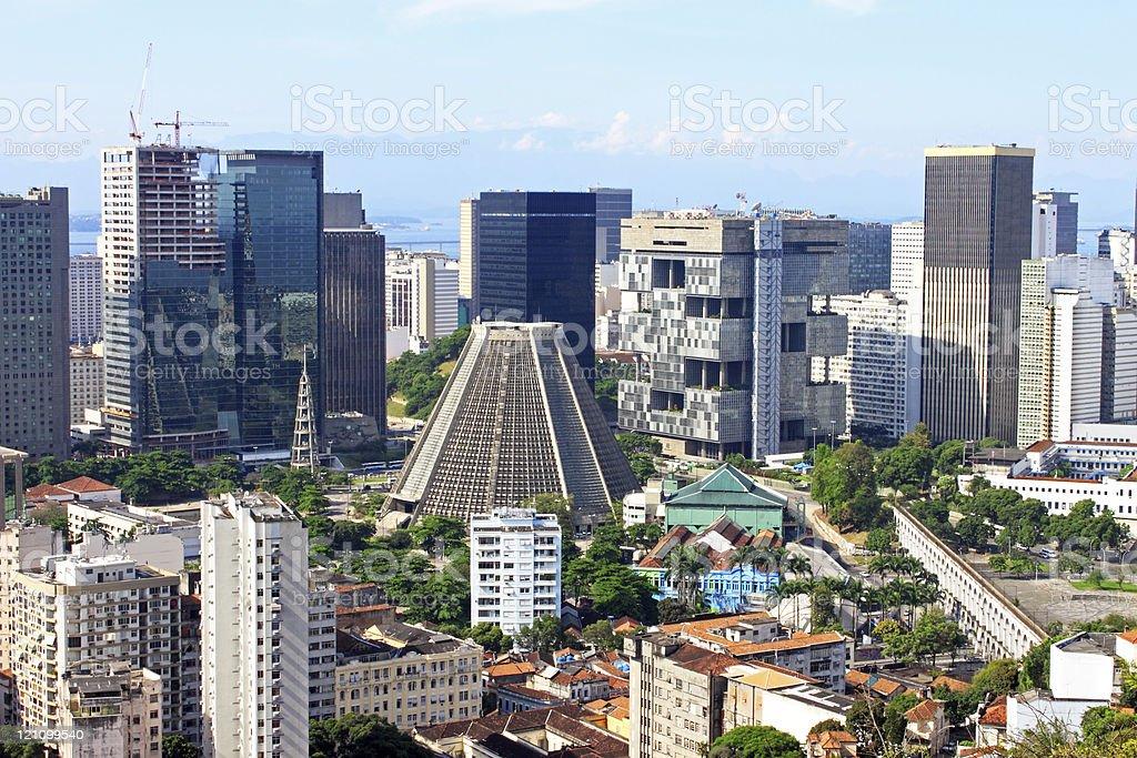 Rio de Janeiro downtown royalty-free stock photo