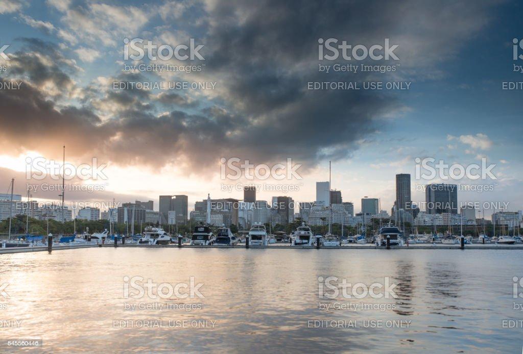 Rio de Janeiro Downtown Skyline royalty-free stock photo