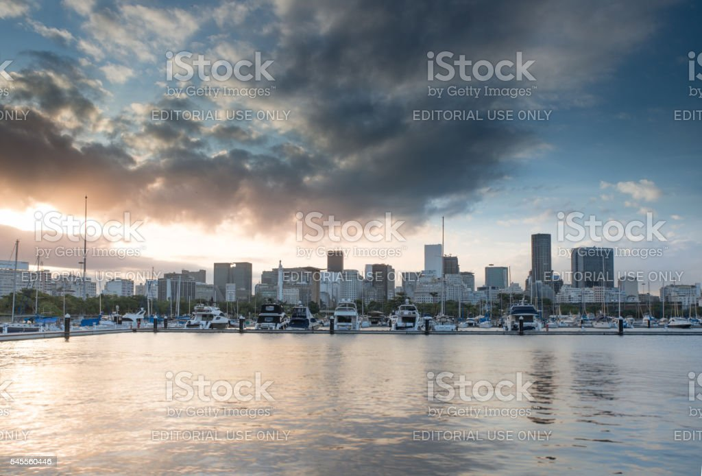 Rio de Janeiro Downtown Skyline stock photo
