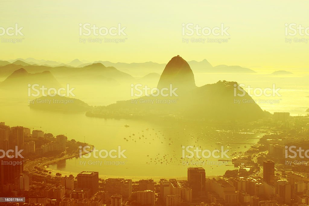 Rio de Janeiro early morning stock photo