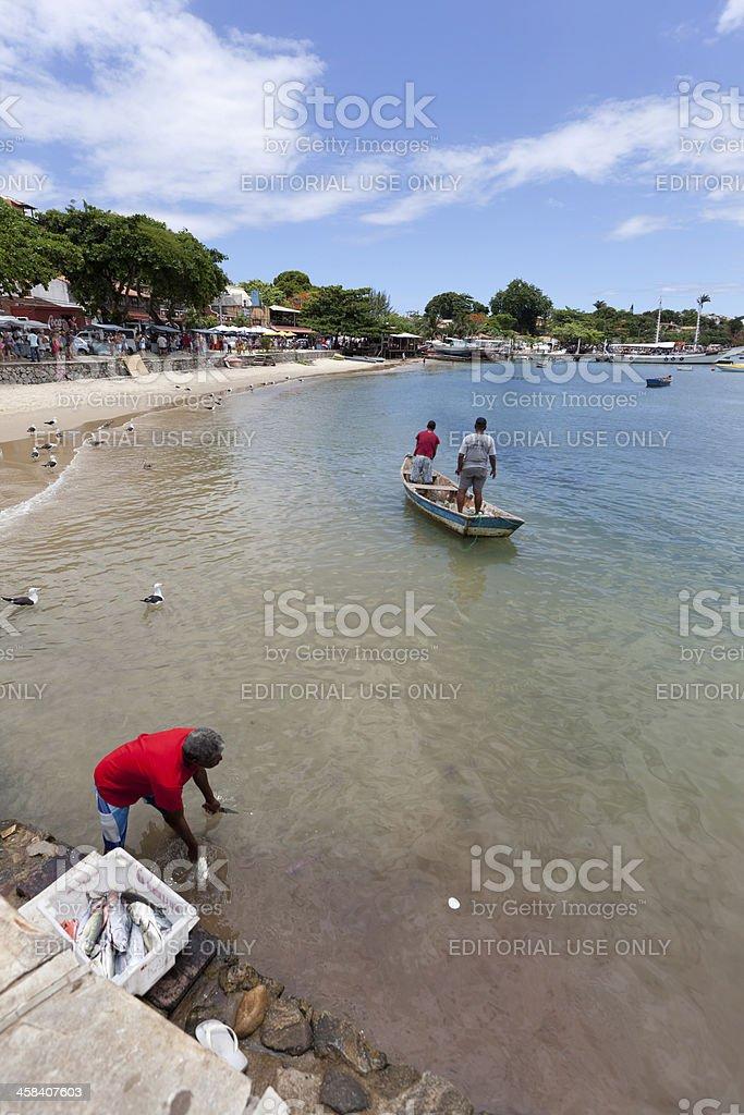 Rio de Janeiro. Fishermen of Buzios. royalty-free stock photo