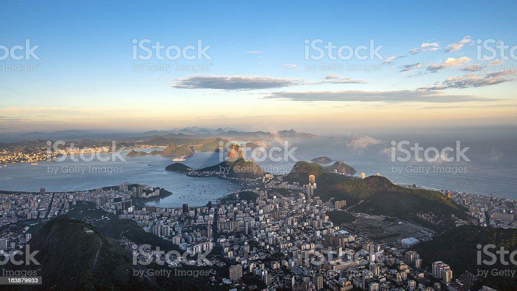 Rio de Janeiro from Corcovado, Brazil stock photo
