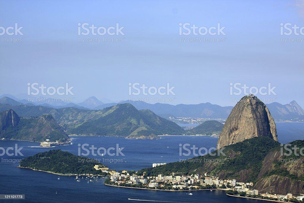 Rio de Janeiro: Guanabara Bay entrance royalty-free stock photo
