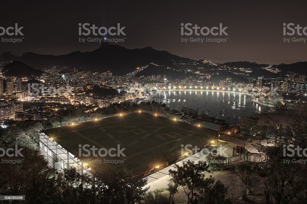 Rio de Janeiro HDR nightshot from above stock photo