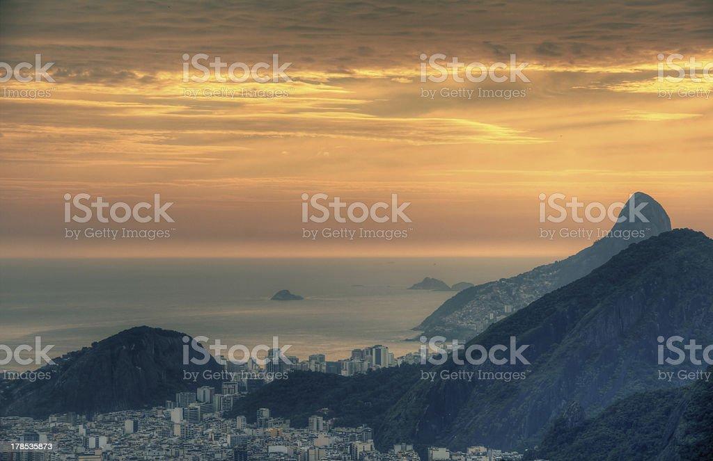 Rio de Janeiro Hills royalty-free stock photo