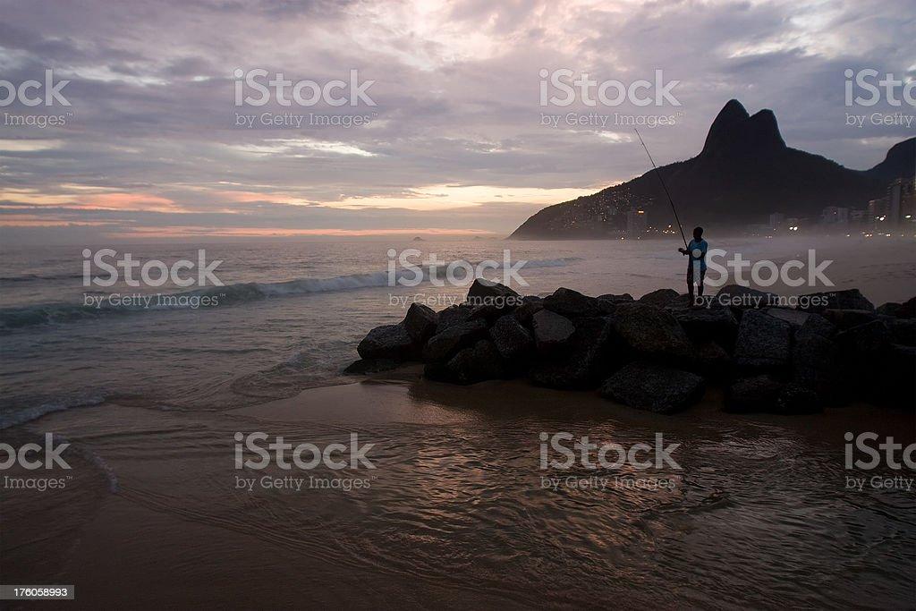 Rio de Janeiro. Ipanema Beach. royalty-free stock photo