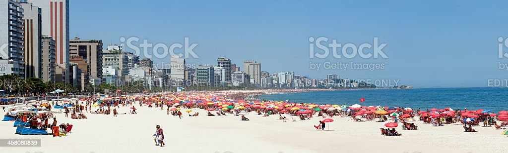 Rio de janeiro. Leblon and Ipanema Beaches . Brazil. royalty-free stock photo