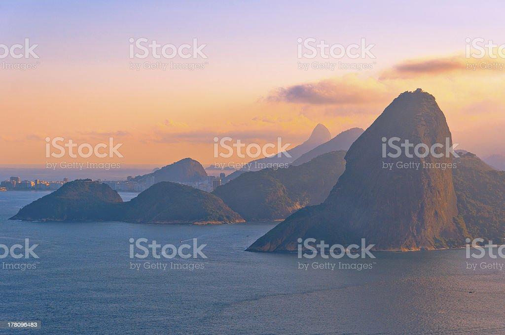 Rio de Janeiro Mountains in Red stock photo