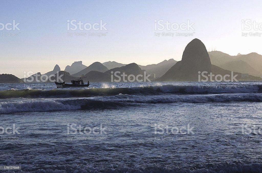 Rio de Janeiro Mountains silhuette royalty-free stock photo