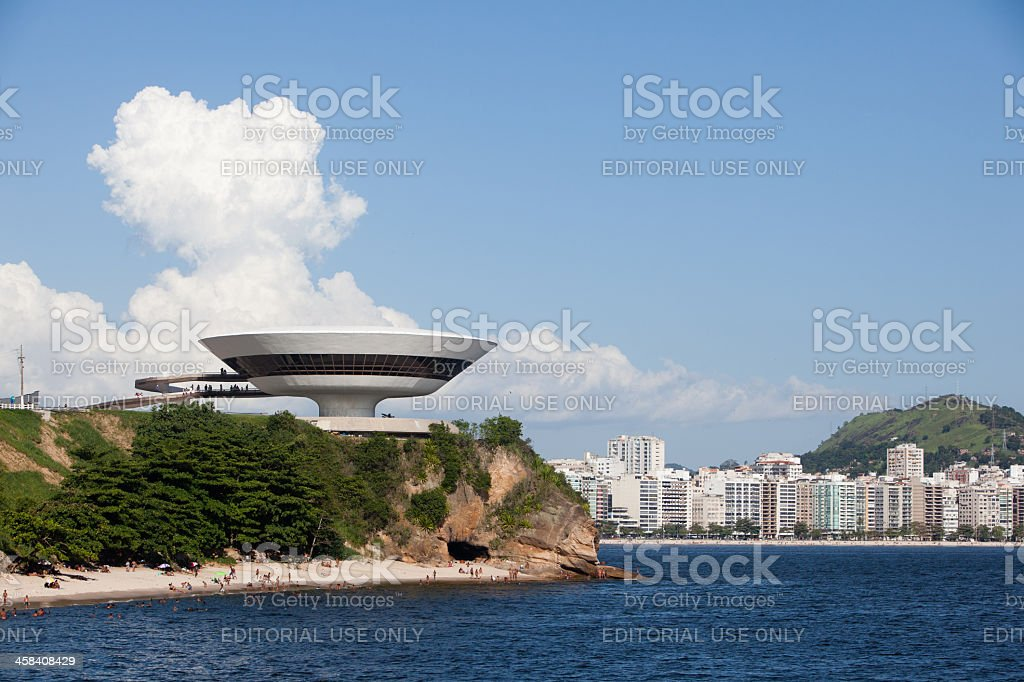 Rio de Janeiro. Niemeyer Contemporary Arts Museum in Niteroi royalty-free stock photo