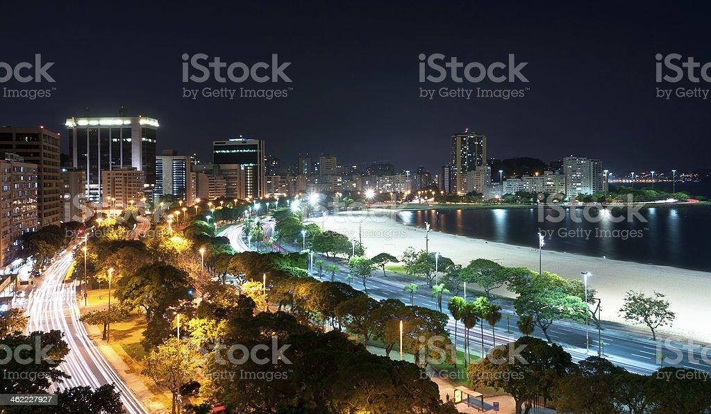 Rio de Janeiro Night Skyline royalty-free stock photo