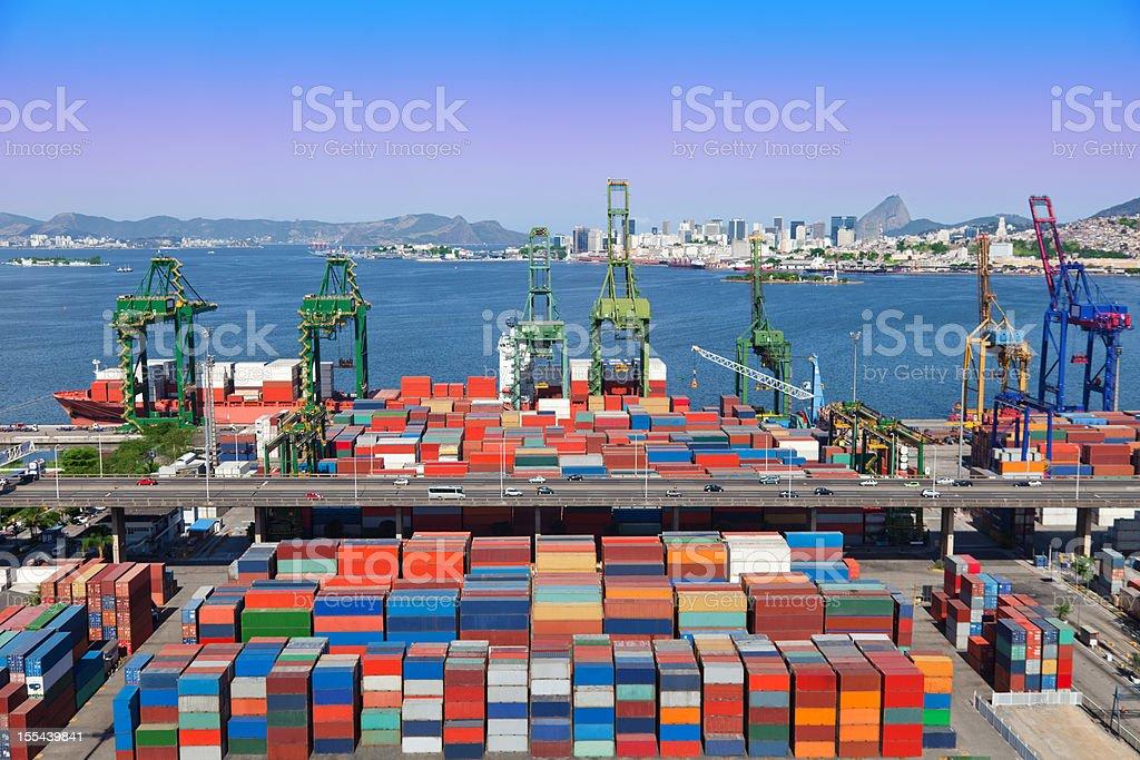 Rio de Janeiro Port stock photo
