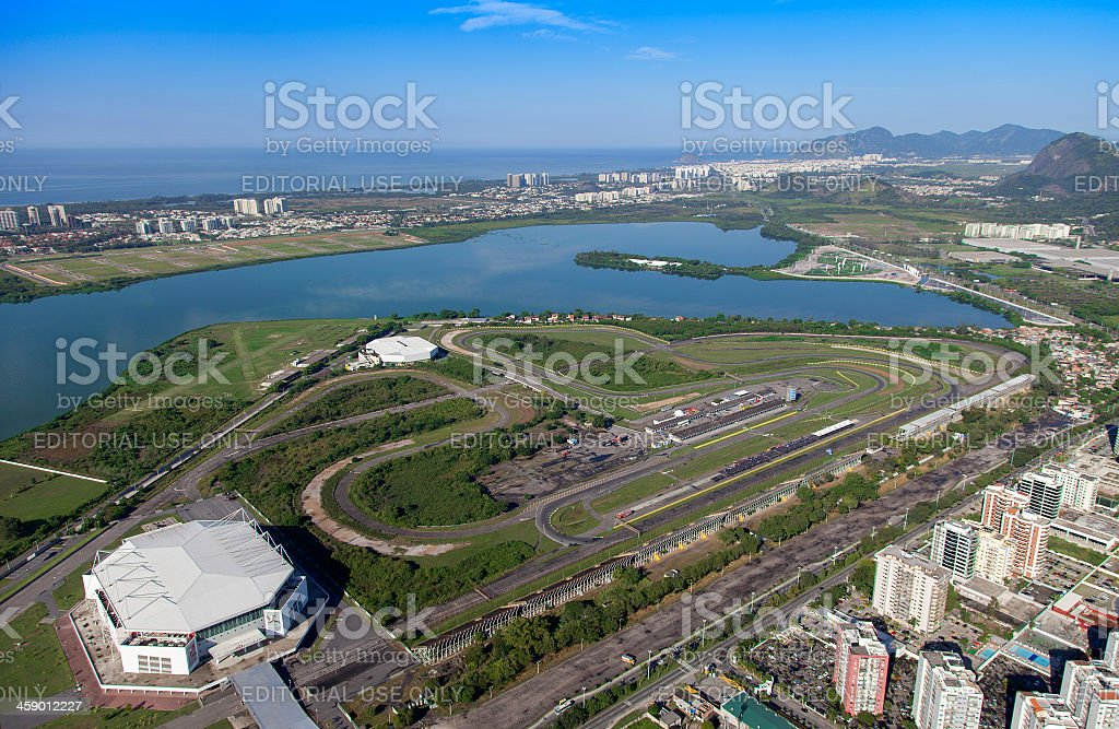 Rio de Janeiro Race Track stock photo