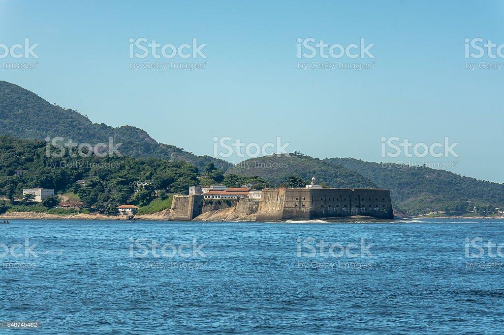 Rio de Janeiro - Santa Cruz da Barra fortress - Niteroi stock photo