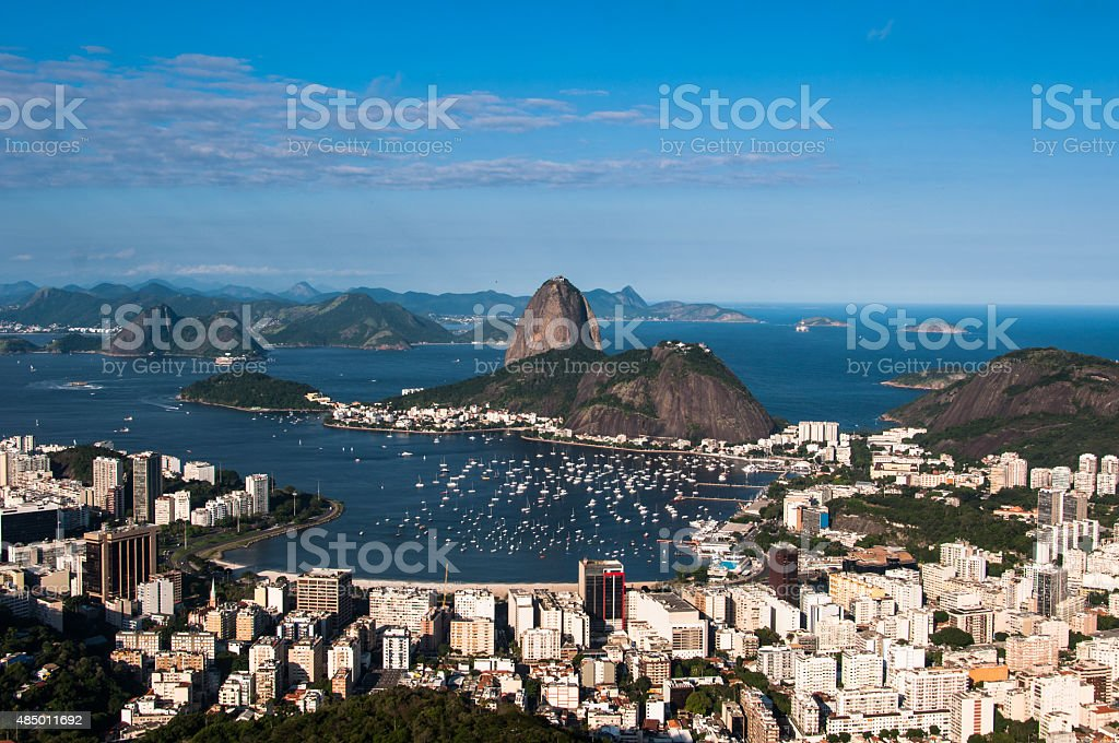 Rio de Janeiro Skyline with Sugarloaf Mountain stock photo