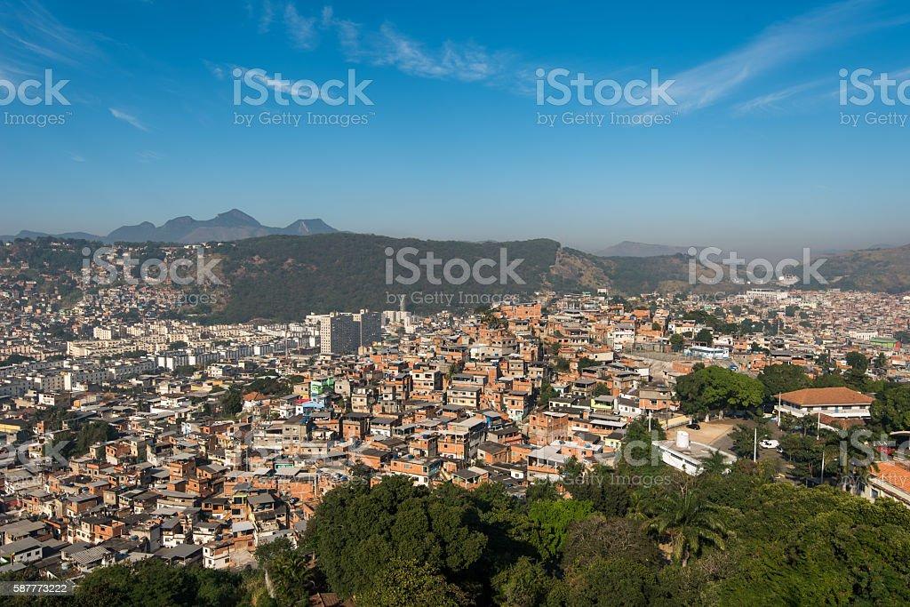 Rio de Janeiro Slums on the Hills stock photo