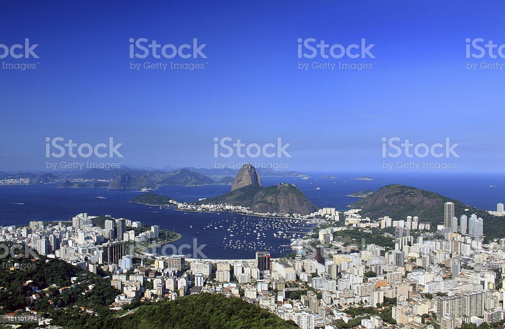 Rio de Janeiro - Sugarloaf and Guanabara Bay royalty-free stock photo