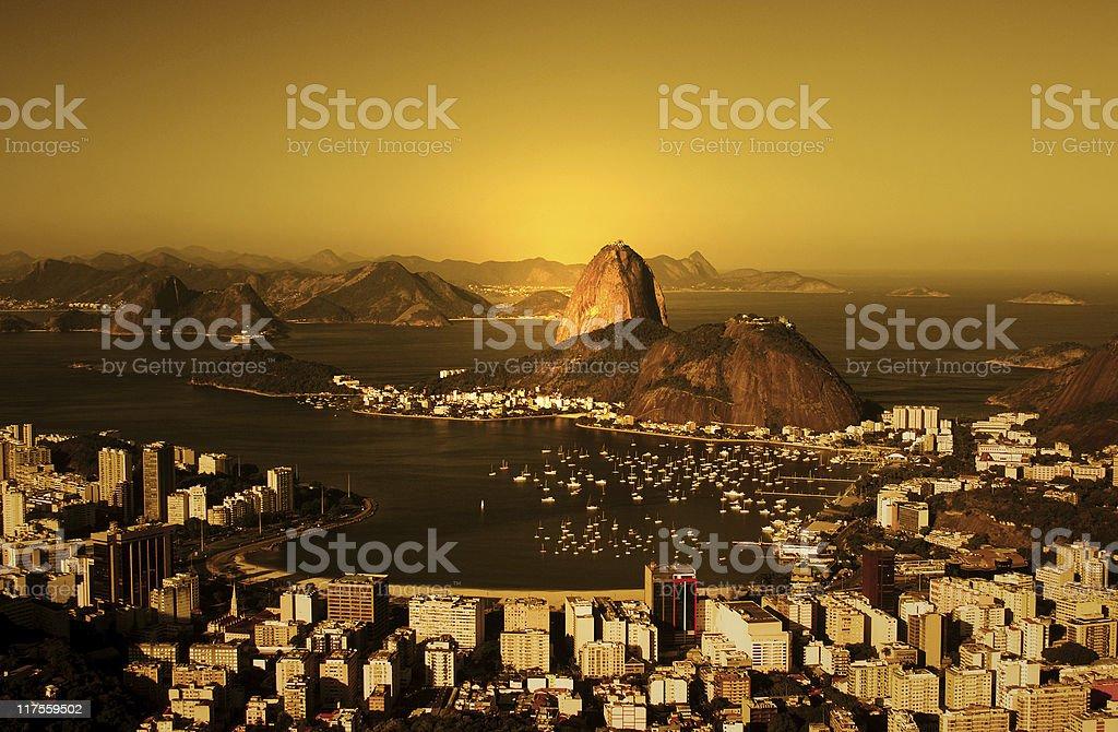 Rio de Janeiro Sugarloaf sunrise royalty-free stock photo