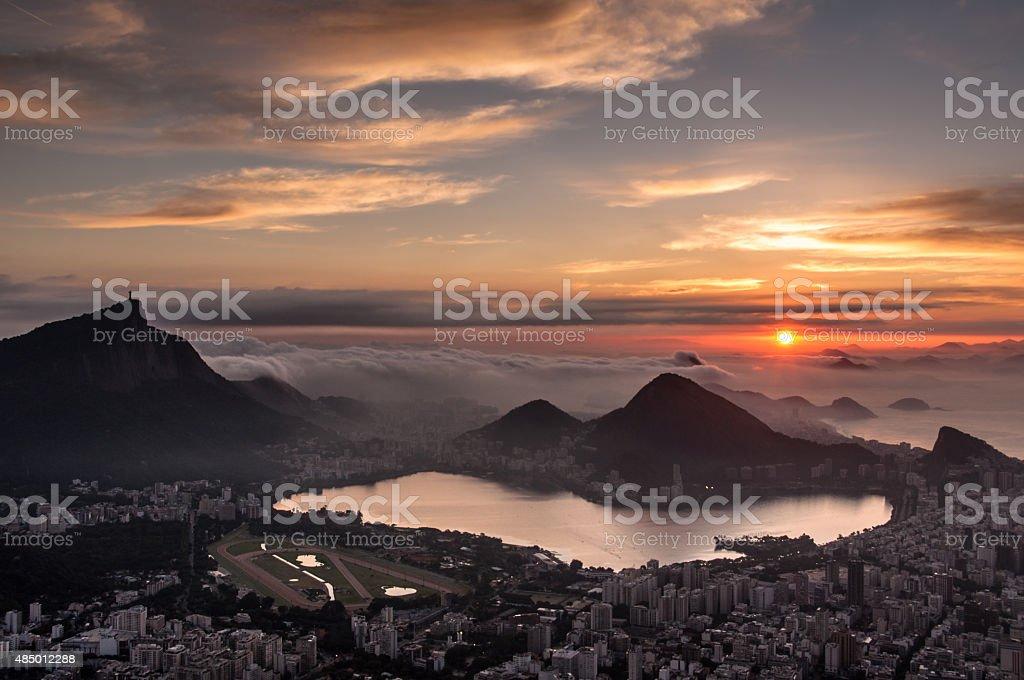 Rio de Janeiro Sunrise stock photo