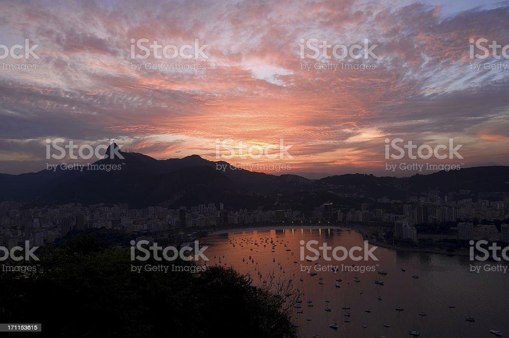 Rio de Janeiro sunset royalty-free stock photo