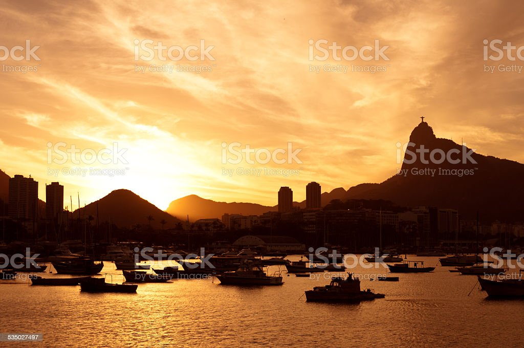 Rio de Janeiro Sunset stock photo