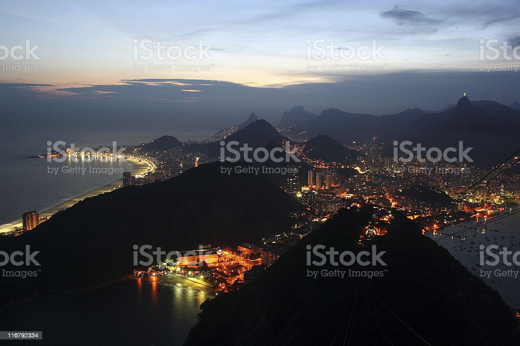 Rio de Janeiro: the view from Sugarloaf royalty-free stock photo