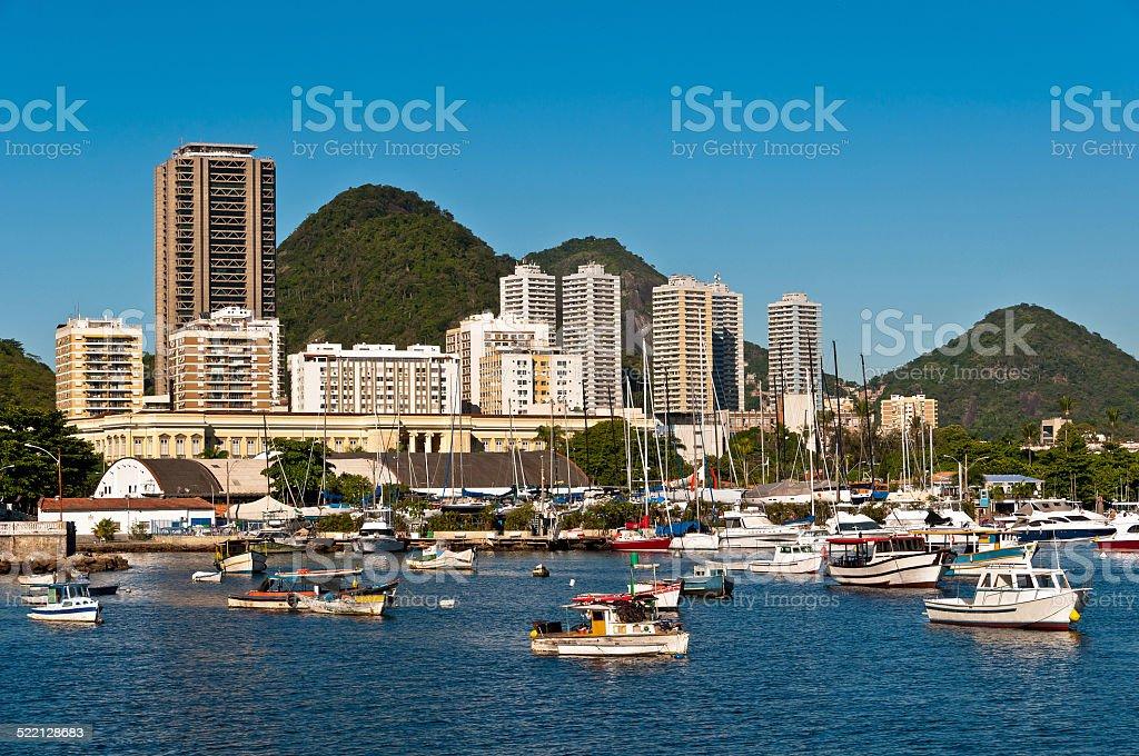 Rio de Janeiro Urban View with Hills stock photo