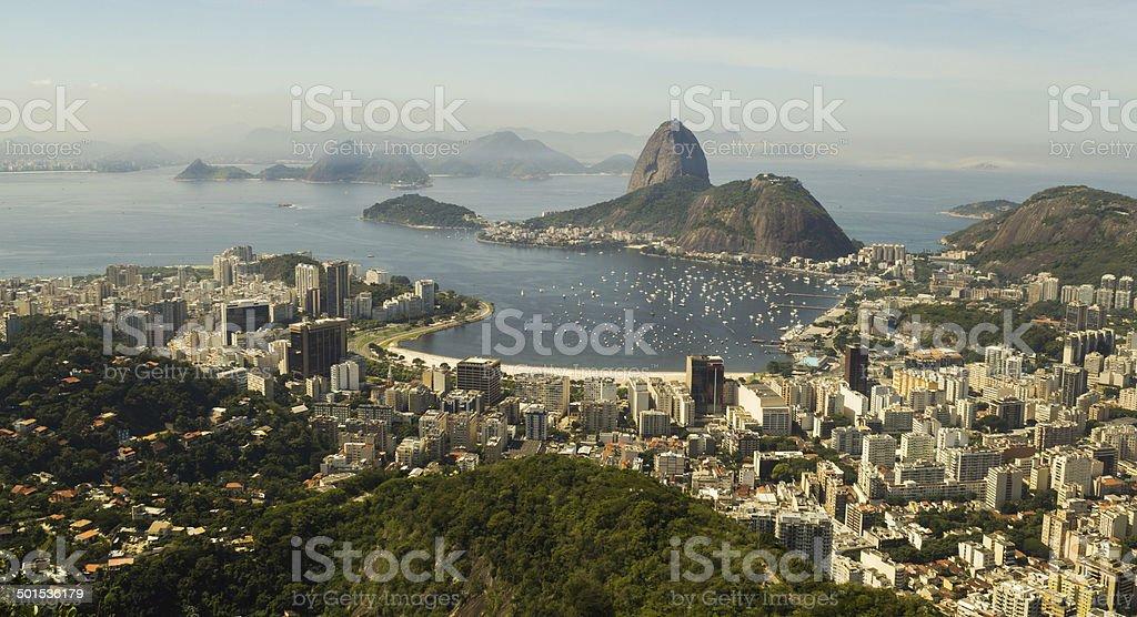 Rio de Janeiro view from Dona Marta royalty-free stock photo