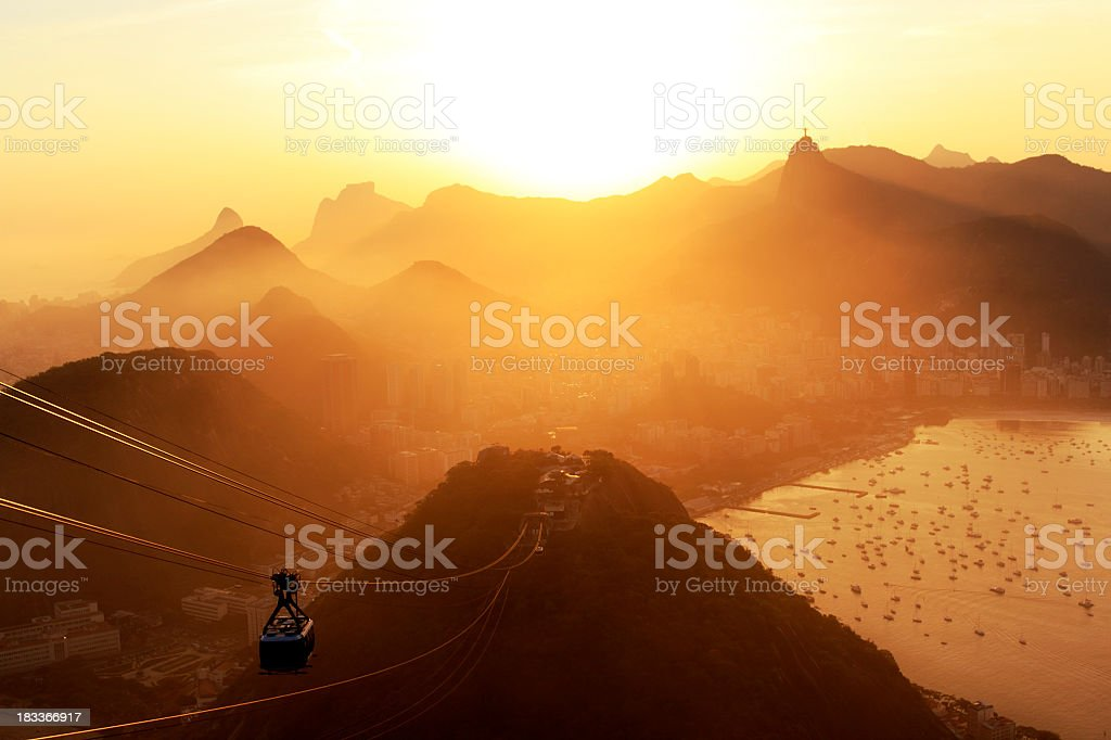 Rio de Janeiro - view from the Sugarloaf royalty-free stock photo