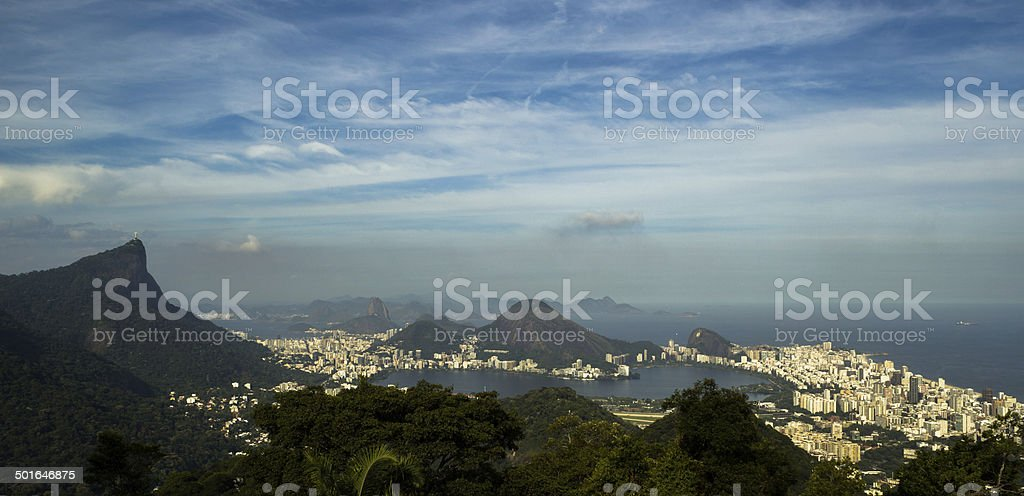 Rio de Janeiro View from Vista Chinesa royalty-free stock photo