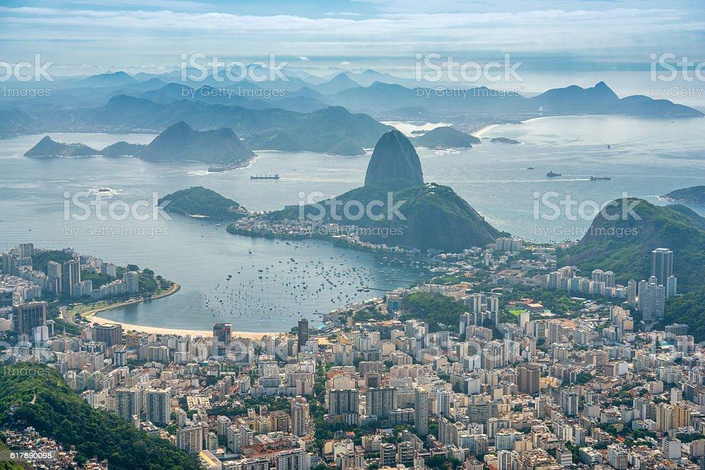 Rio de Janeiro with Sugar Loaf Mountain stock photo